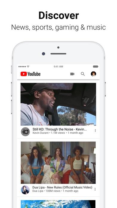 Screenshot of YouTube: Watch, Listen, Stream App