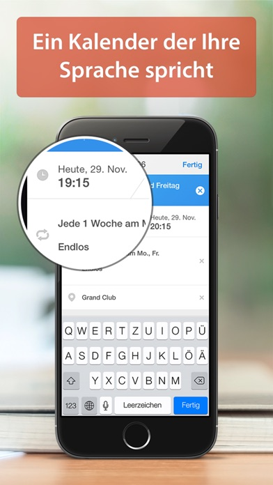 calendars 5 kostenlos intelligente iphone kalender app mit google sync. Black Bedroom Furniture Sets. Home Design Ideas