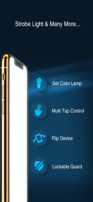 front and back flashlight control/turn on app for android mobile