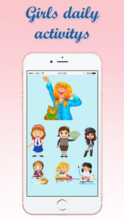 Girls Daily Activity Emojis