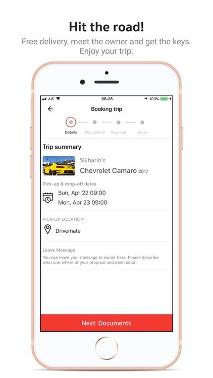 Drivemate: P2P car rental screenshot-3