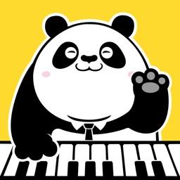 熊猫钢琴陪练-钢琴键盘块的陪练弹琴吧