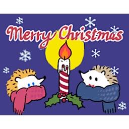 Merry Christmas Cute Hedgehog
