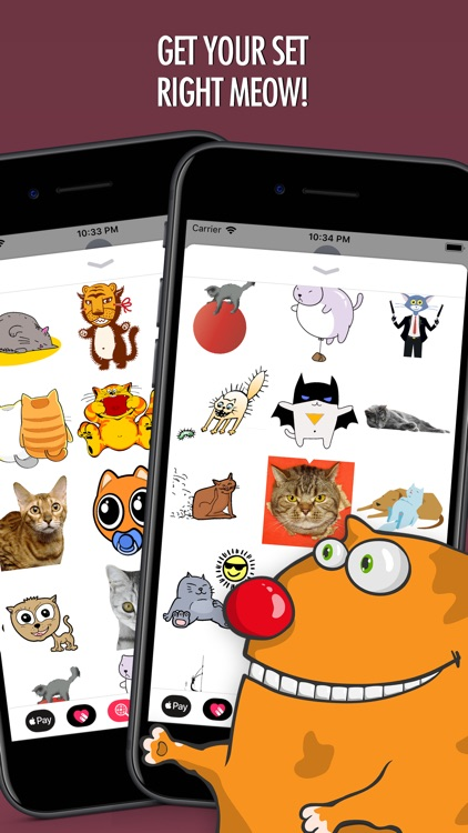 Cats Animated Text Stickers 3 screenshot-3