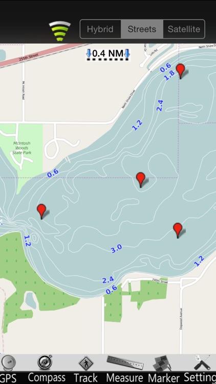 Iowa Lakes GPS Nautical Charts screenshot-3