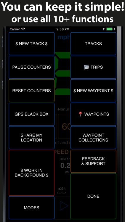 Speedometer 55 GPS Speed & HUD screenshot-4
