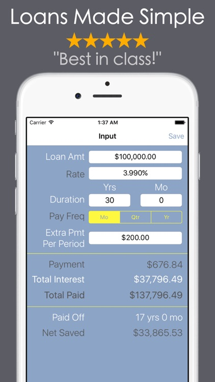 Loan Calculator PRO - Mortgage screenshot-0