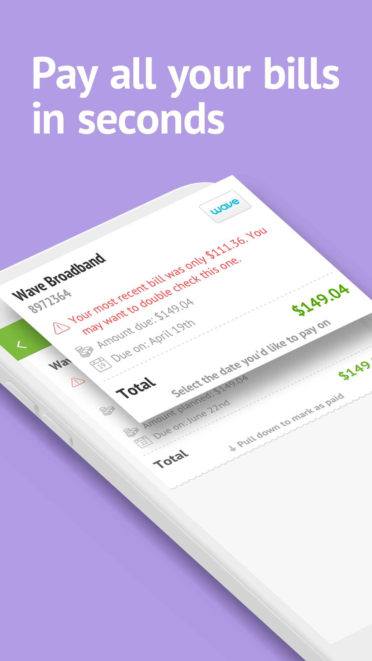 Prism Pay Bills, Bill Reminder Screenshot