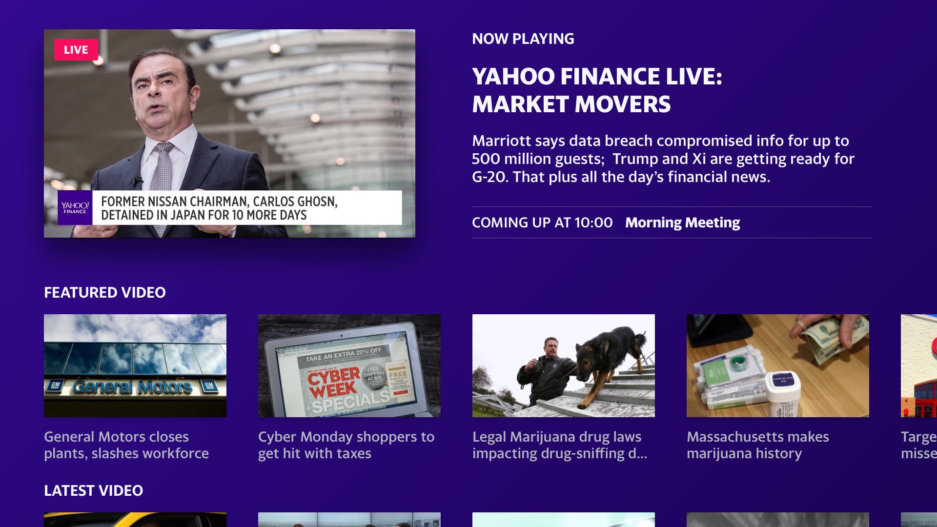 Yahoo Finance screenshot 12
