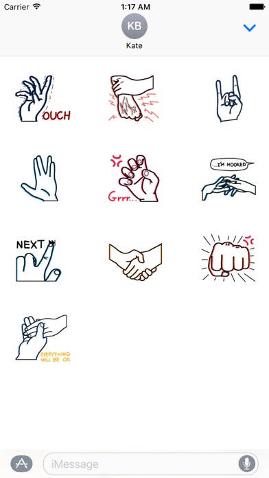 Expressions of Hands Sticker screenshot three