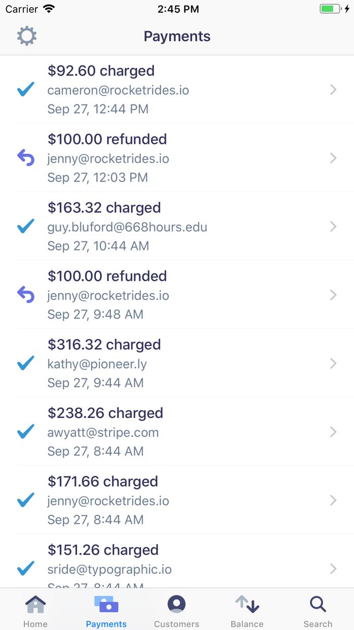 Stripe Dashboard Screenshot