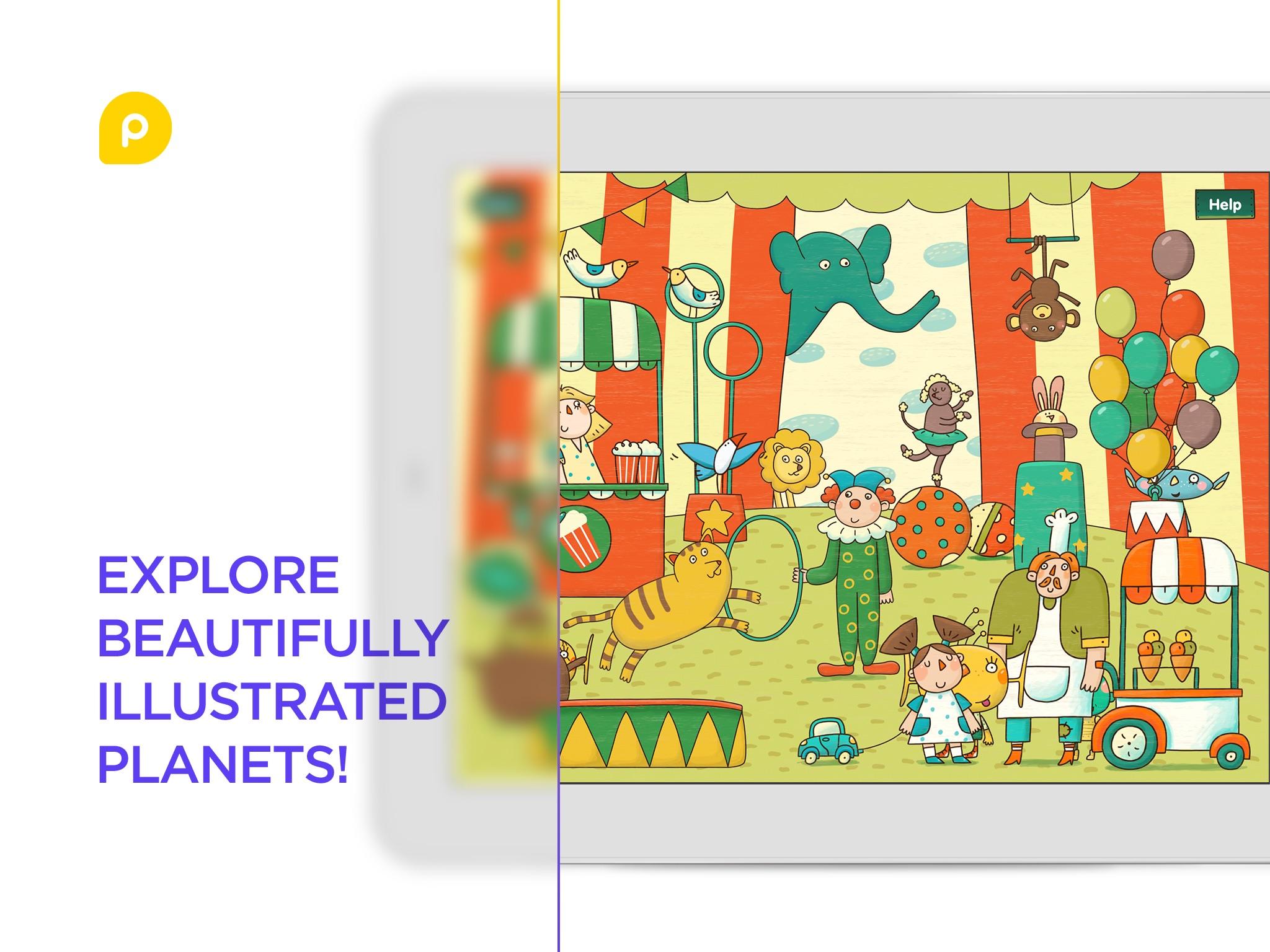 Screenshot do app Mini-U: Peekaboo Universe