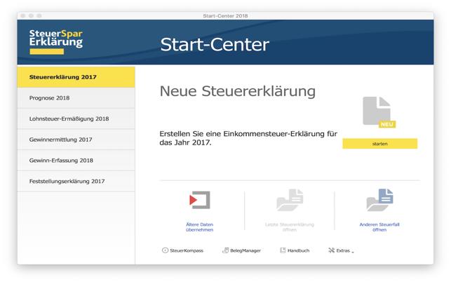 SteuerSparErklärung 2018 Lite Screenshot