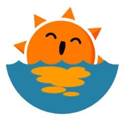 Weather stickers - Sun emoji