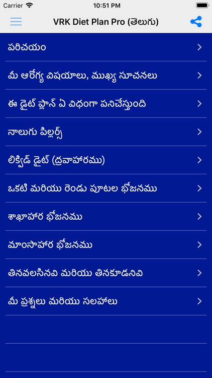 VRK Diet Plan Telugu Pro screenshot-0