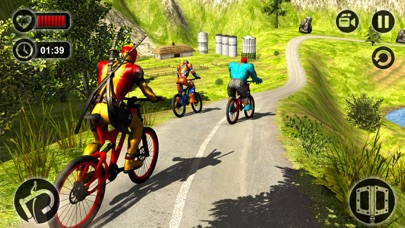 Offroad Superhero Bicycle Race screenshot two