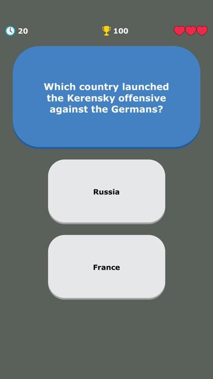 WW1 Quiz - War History Trivia screenshot-8