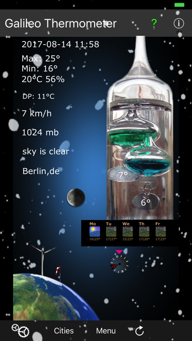 Galileo Thermometer review screenshots