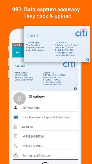 Bric app business card scanner on the app store iphone screenshots reheart Gallery