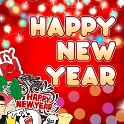 2018 Happy New Year Stickers
