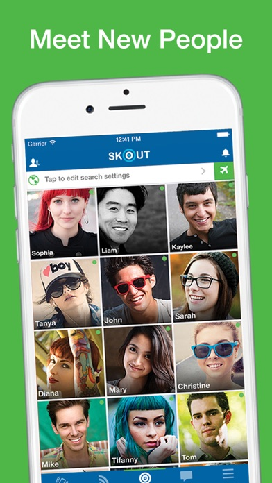 How to search people on skout