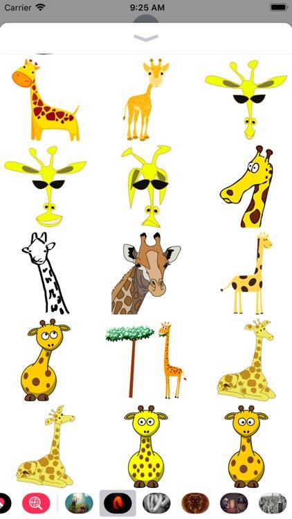 Giraffe Stickers - Sid Y