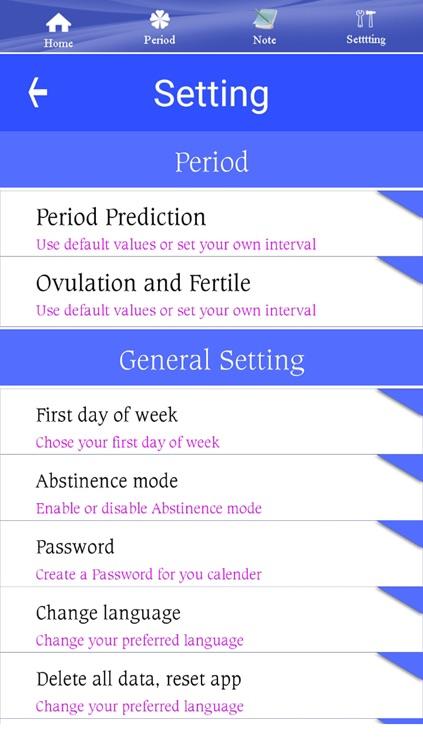 Ovulation Tracker, Fertility