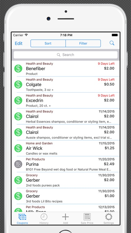 Track My Coupons - Scanner and Organizer