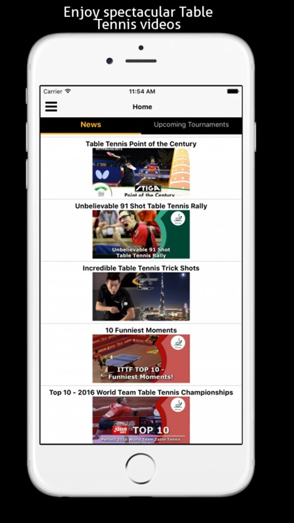 Table Tennis Match Edge - Table tennis Videos, Equipment and Clubs screenshot-0