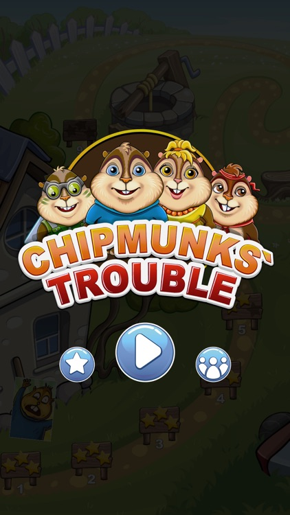 Chipmunks' Trouble — funny puzzle screenshot-0