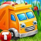 Cars in sandbox: Construction icon