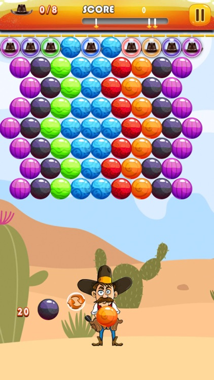 Bubble Shooter Cowboy : Classic Bubble Match 3 Game For Free