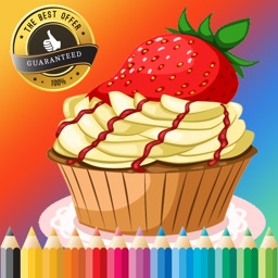 Bakery Cupcake Coloring Book Free Games for children age 1-10: Support your child's learning with drawing ideas, fun activities