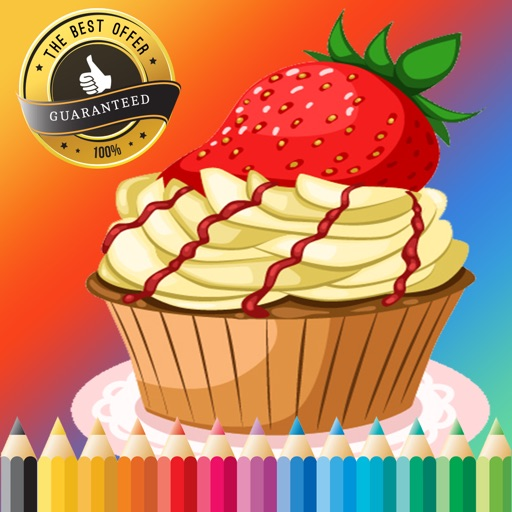 Bakery Cupcake Coloring Book Free Games For Children Age 1