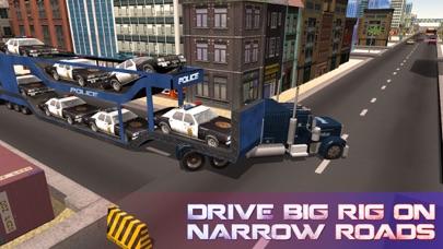 La policía camión de transporte de coches - coche camión y entregar los vehículos de policíaCaptura de pantalla de1