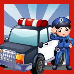 A Police Station Education-al Kid-s Game-s with Colour-s and Puzzle Task-s