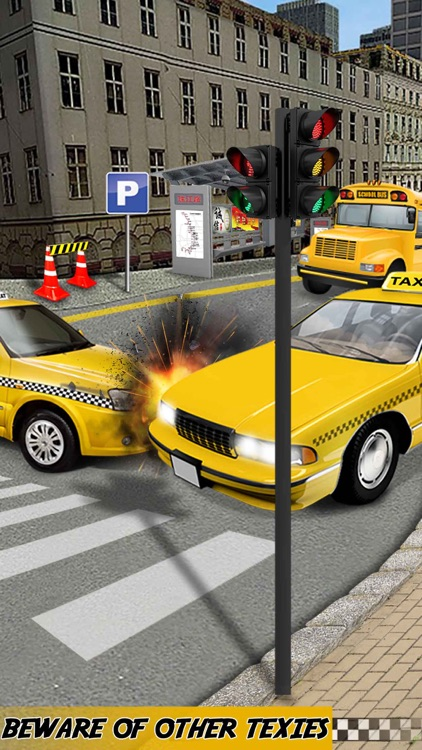 New York Taxi Parking 3d - Crazy Yellow Cab Driver in City