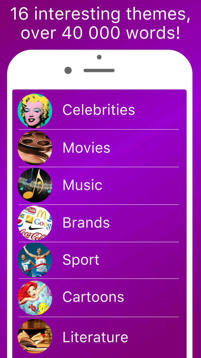 Hands up alias charades and heads up activity game for fun friends company Free Screenshot
