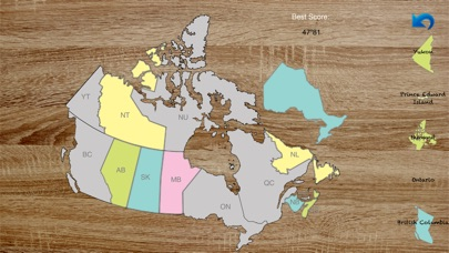 Map Of Canada Game.Canada Map Master Lite Audio Learning Puzzle Game And Test App