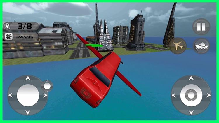 Floating Limo Flying Car Simulator - Futuristic Driving Stunts - Airplane Flight Pilot