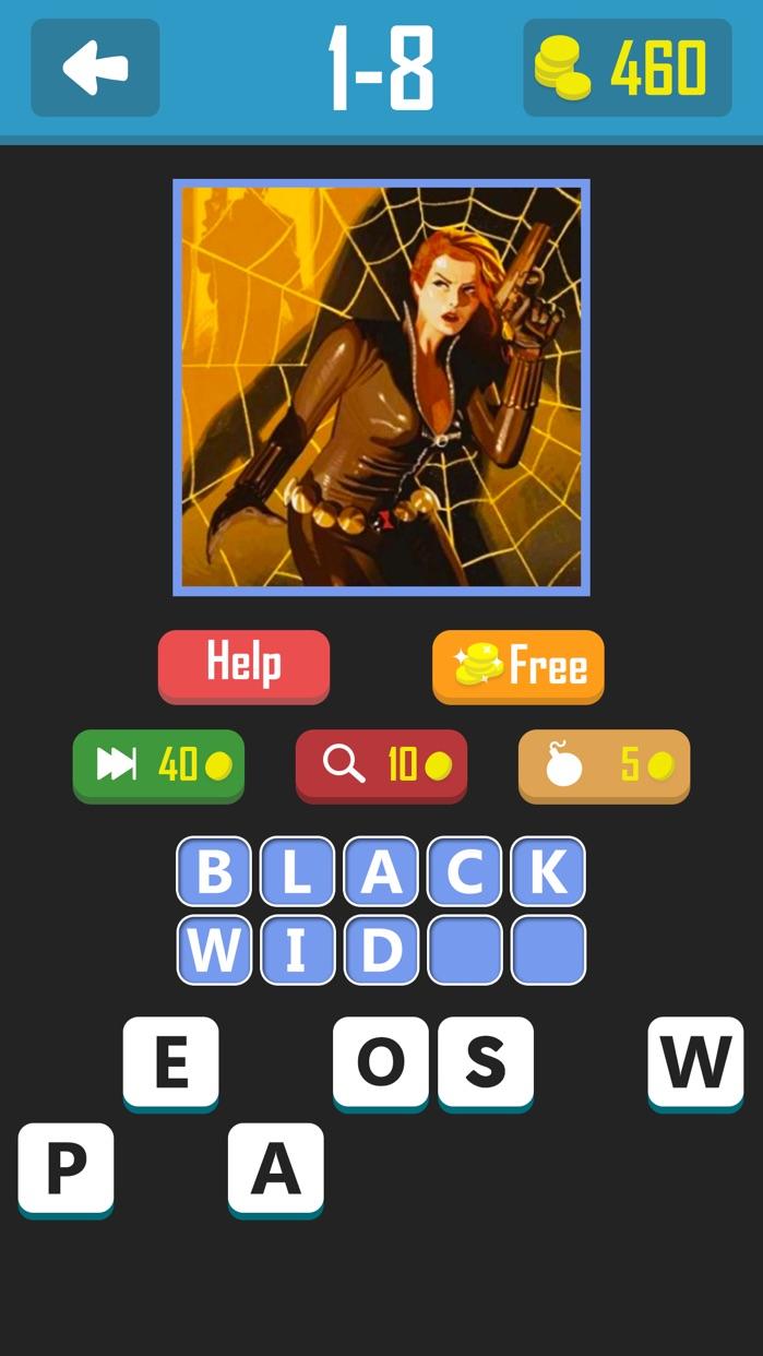 Super.Hero Trivia Quiz - Guess Most Popular Comics Book Characters Names Screenshot