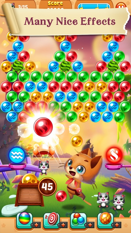 Rescue Witch Kitty Cat Pop - World Bubble Shooter Puzzle screenshot-4