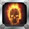 Cráneos de fuego fondos de pantalla - Imágenes de miedo para la pantalla de inicio