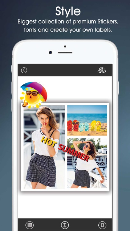 Selfia - Selfie camera with live photo effects and Collage frame screenshot-4