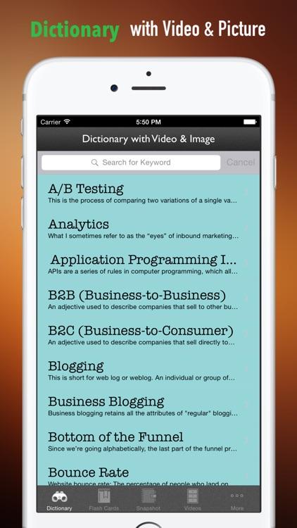 Marketing Glossary and Cheatsheet:Study Guide and Courses screenshot-3