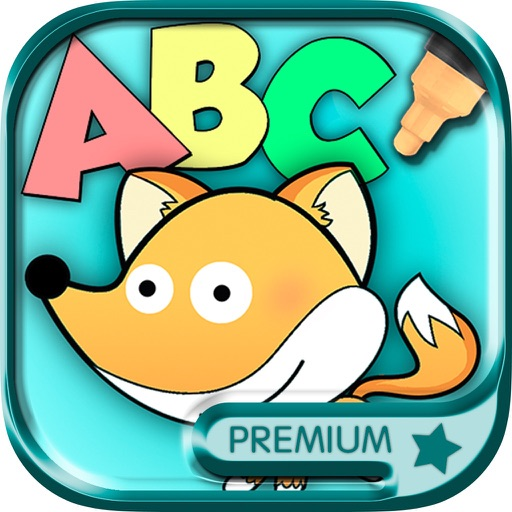 Color and Paint Zoo alphabet - English ABC Learning game for kids Premium