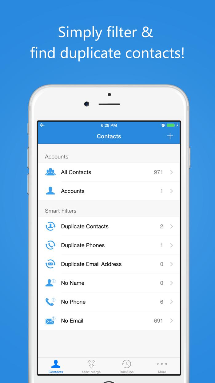 Contact Cleanup Screenshot