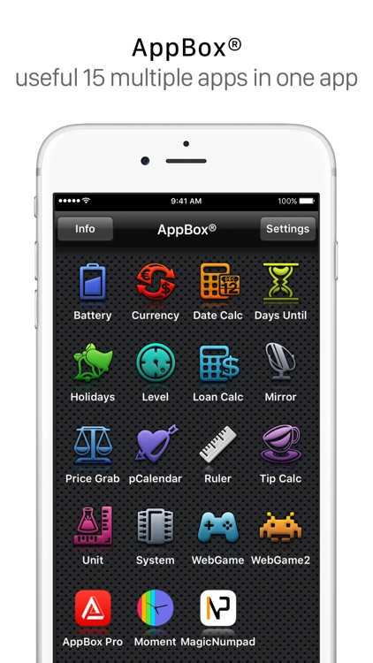 AppBox: Useful 16 Apps in One