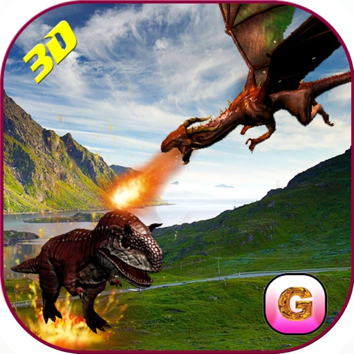 Flying Dragon Warrior Attack – Monster vs Dinosaur Fighting Simulator