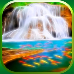 3D Waterfall Wallpaper – Cool Fractal Nature Background.s & Retina Lock Screen.s